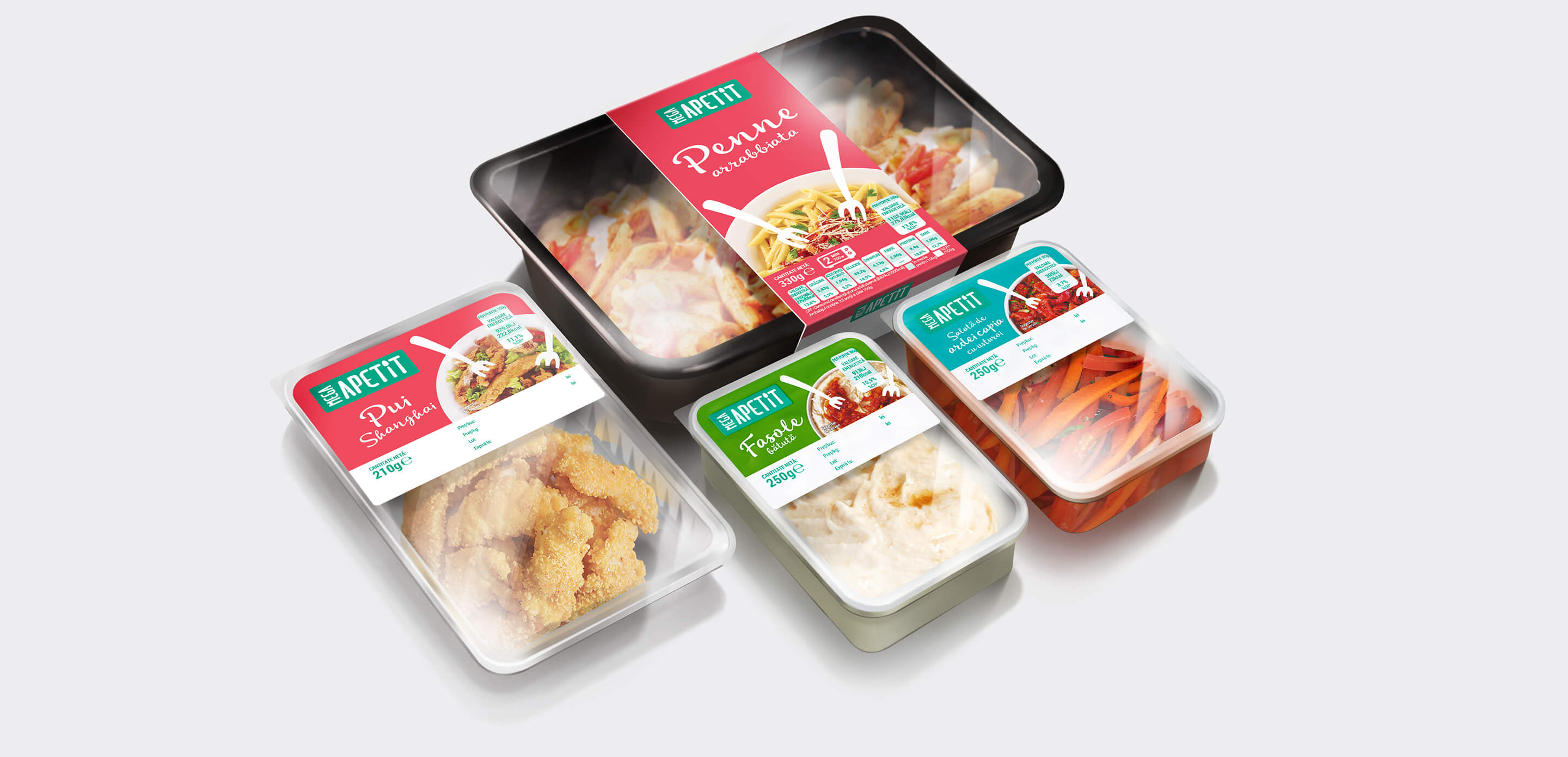 Mega Apetit ready meal packaging