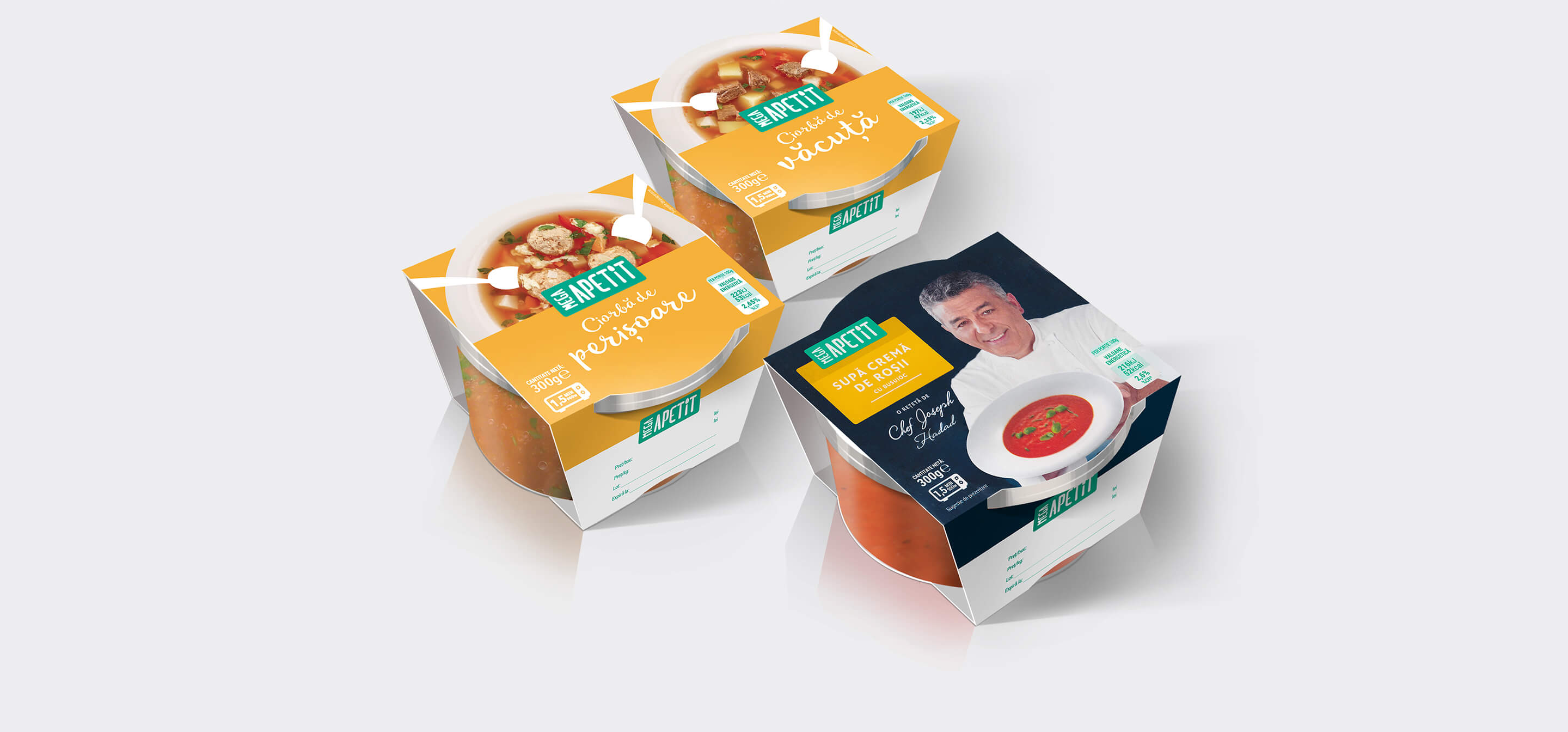 Mega Apetit soup packaging