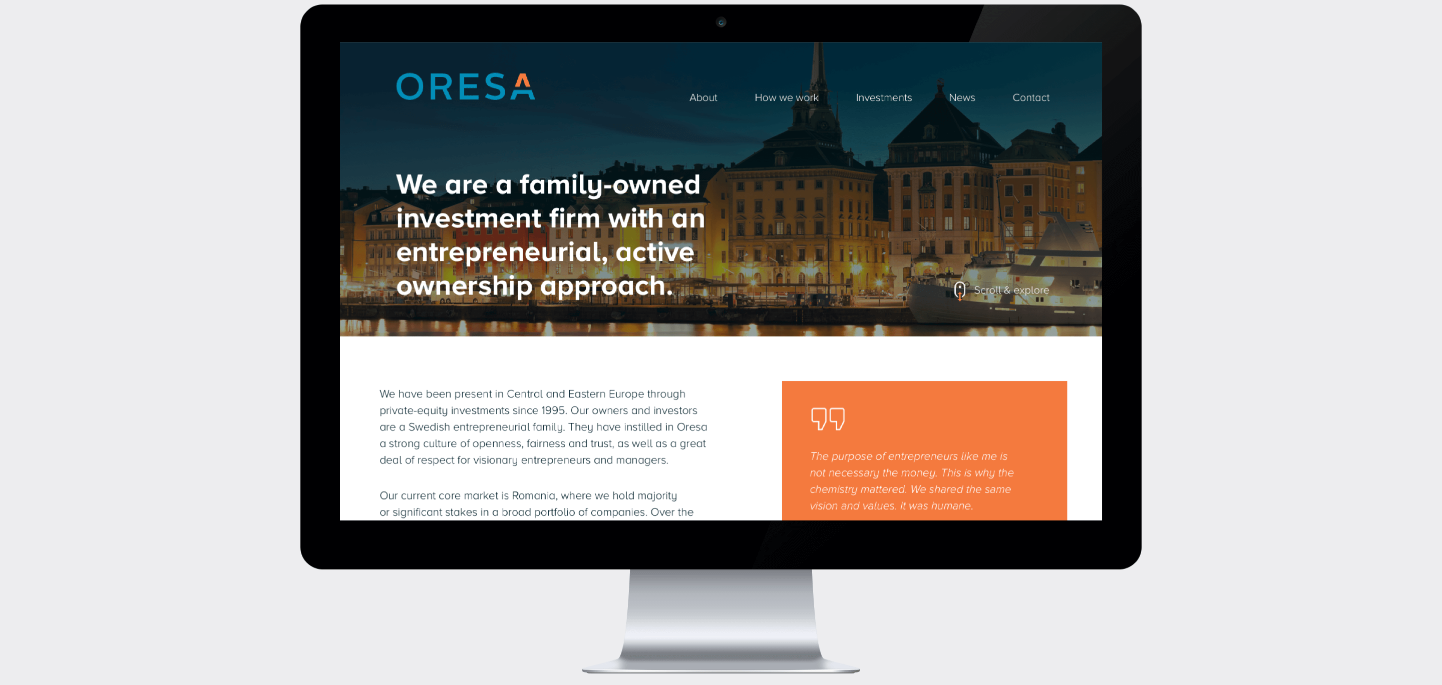 Oresa website