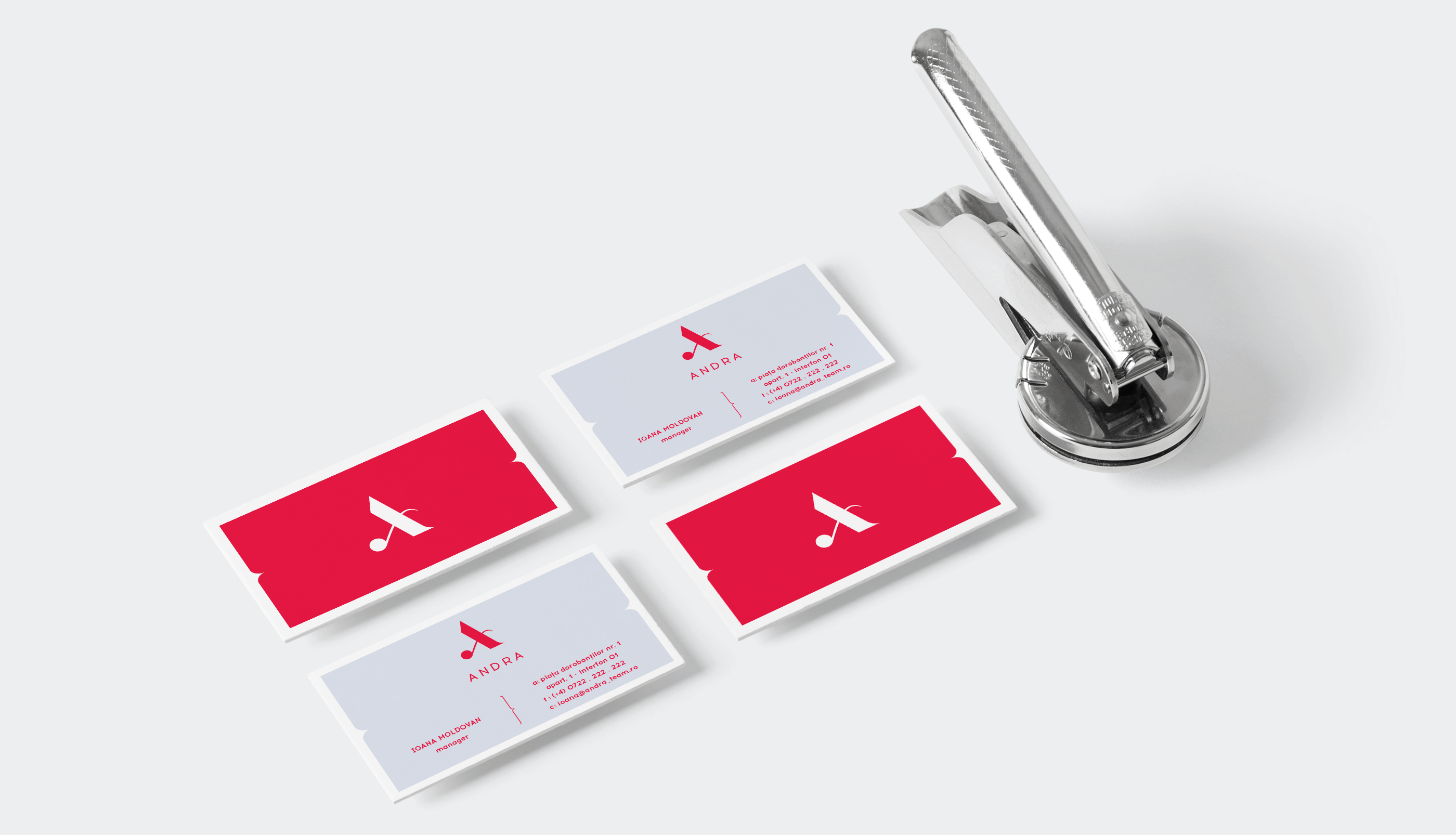 Andra business cards