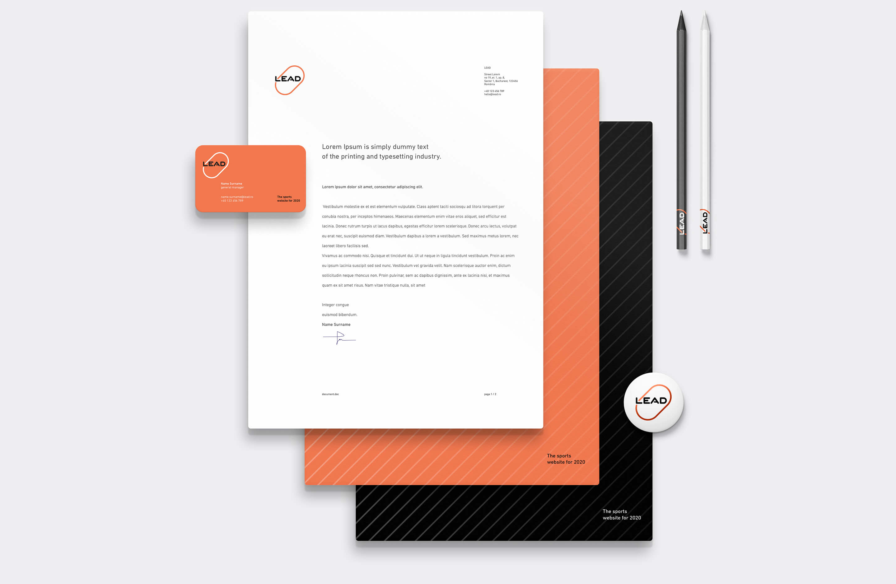 Lead stationery