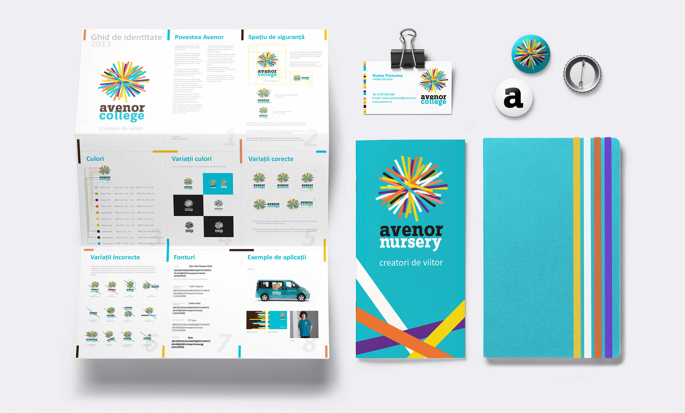 Avenor College stationery